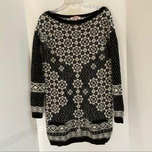 Juicy Couture fuzzy knit sweater dress size S